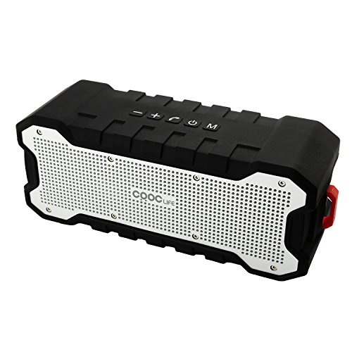 CRDCsmart Bluetooth Speakers, Wireless Speaker 2600mAh Rechargeable Battery 30 Hours Playing Dual 5W Stereo 2 Channel Drive 4.0, Waterproof IP65 Speaker for Outdoor Sport MP3/4 Music Phone Call