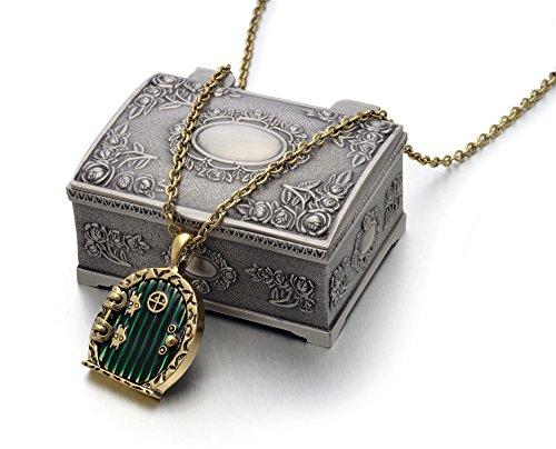 Hobbit Lord of the Rings Locket Shire Movable Door Pendant Necklace - LOTR