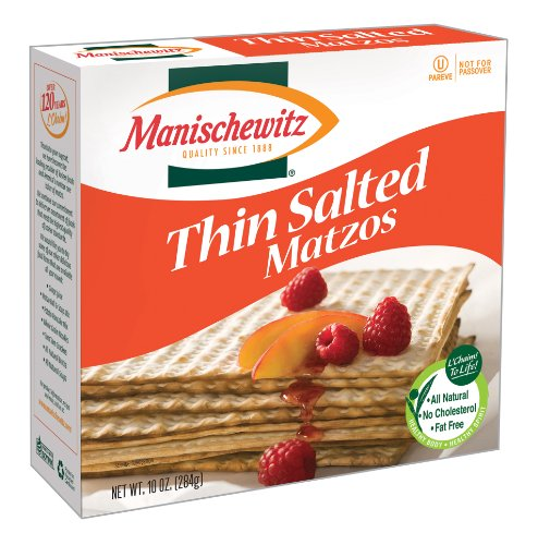 MANISCHEWITZ Thin Salted Matzo, 10-Ounce Boxes (Pack of (Matzo Thins)