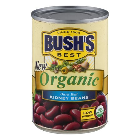 Bush's Organic Kidney Beans 16 oz (Pack of 6)