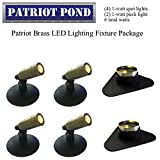 Patriot Brass LED Waterproof Pond and Landscape Lighting Fixture ONLY Kit PF-D1