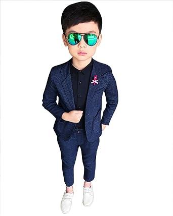 Niños Elegante Caballero 2 Piezas Conjuntos De Ropa Chaqueta Y Pantalones