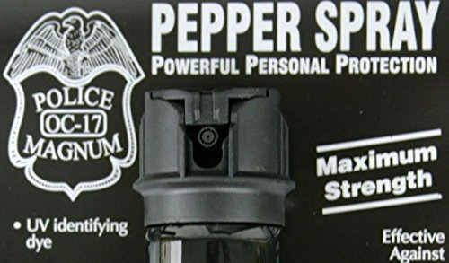 3 PACK POLICE MAGNUM OC-17 MACE PEPPER SPRAY 2 OUNCE FLIP TOP STREAM by Police