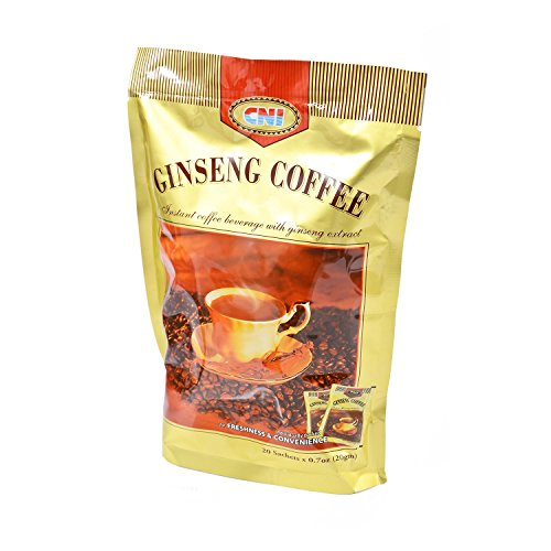 Ginseng Coffee - MUST BUY ! 1 Pack CNI Ginseng Coffee ( 20 Sachets x 20g Per Pack ) Instant Coffee Beverage