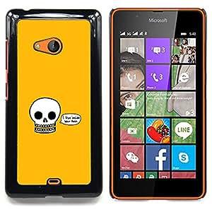 For Microsoft Nokia Lumia 540 N540 - I Live Inside Your Face - Funny Skull /Modelo de la piel protectora de la cubierta del caso/ - Super Marley Shop -