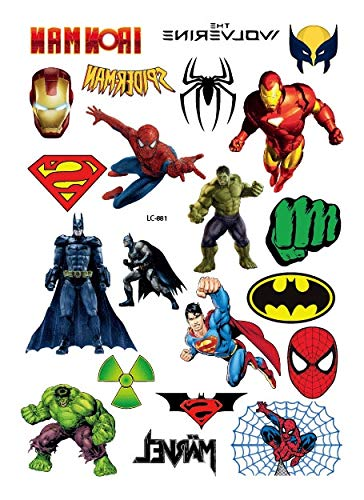 24f7a47ef Generic Rocooart Hulk Thor Wonder Woman Waterproof Temporary Tattoo Stickers  For Kids Cartoon Super Hero Tatuagme Face Fake Tattoo Taty LC-881:  Amazon.in: ...