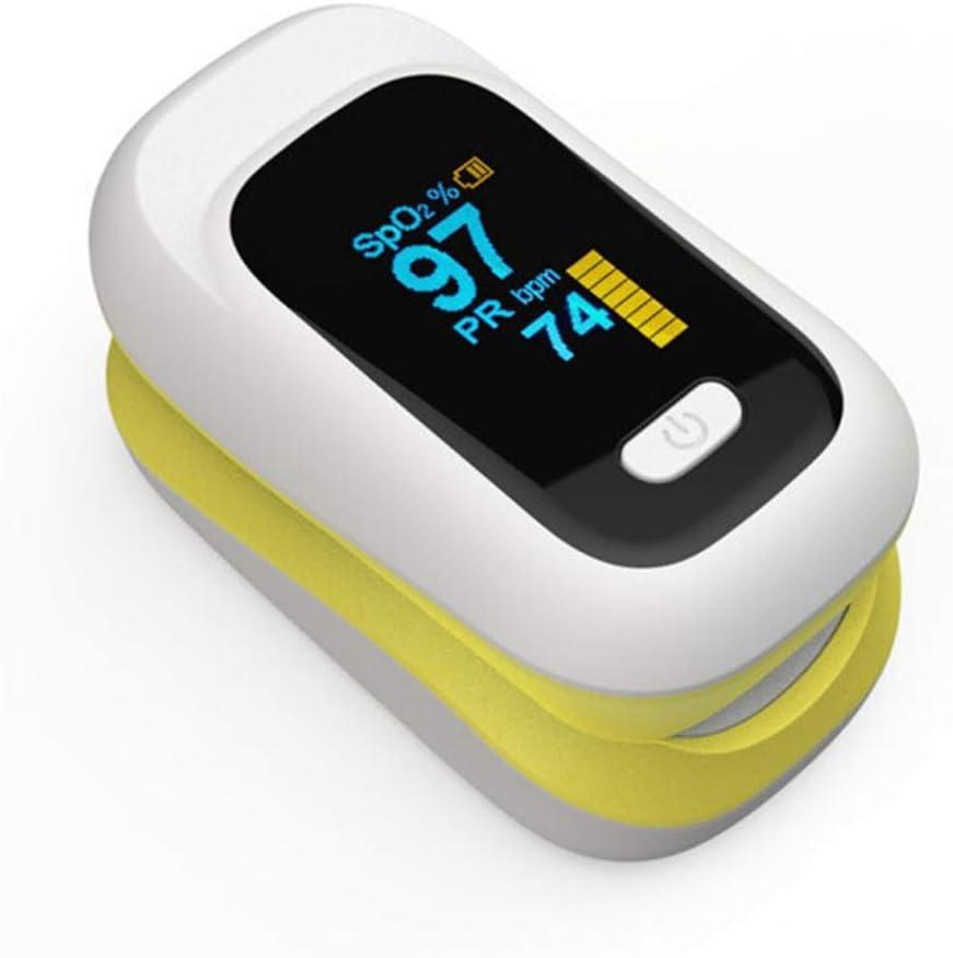 POEO Oxímetro: Monitor de oxígeno portátil, Monitor de frecuencia cardíaca para frecuencia de Pulso y saturación de oxígeno (Spo2) para Adultos, niños, Personas Mayores, con baterías,B