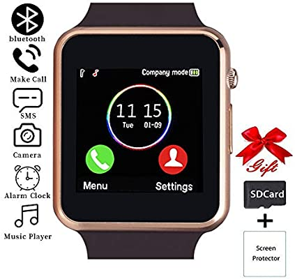 Smart Watch,Touchscreen Smartwatch Phone with Call Text Music Player Camera Notification Sync Smart Watches Compatible with Android and iOS (Partial ...