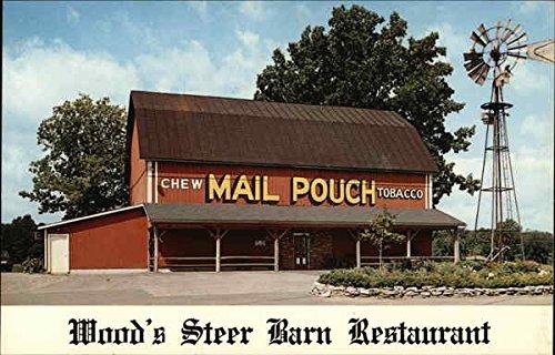 Woods Steer Barn Restaurant Upper Sandusky Ohio Original Vintage