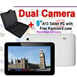 """Goldengulf 9"""" inch Latest MID Google Android 4.0 Tablet PC Capacitive Allwinner A13 8GB with free keyboard"""