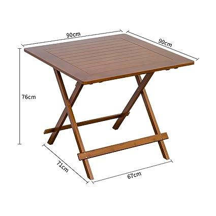 Sillas de mesa cuadradas de bambú, Sillas de escritorio plegables portátiles, Sillas de madera