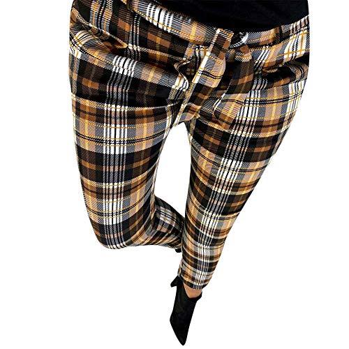 - High Waist Harem Pants for Women Bowtie Casual Pants Elastic Striped Trousers