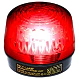 Seco-Larm Enforcer LED Strobe Light with Built-In Programmable Siren, Red
