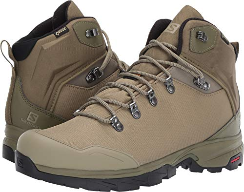 Boot Gtx Backpacking Mid (Salomon Outback 500 GTX Backpacking Boot - Men's Burnt Olive/Mermaid/Black, US 9.0/UK 8.5)