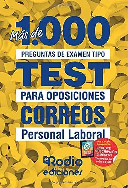 Correos. Personal Laboral: Más de 1.000 preguntas de examen tipo test para oposiciones: Amazon.es: autores, Varios: Libros