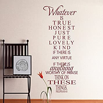 Amazoncom MairGwall Bible Verse Wall Decal Philippians - Bible verse wall decals