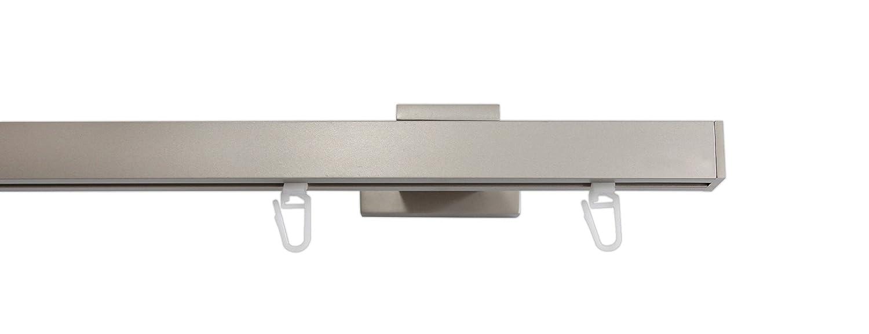 Tilldekor Innenlaufsystem Gardinenstange QUAD-LINE rechteckig - aluminium - 240 cm, 1-Lauf