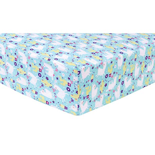 Trend Lab Llama Paradise Deluxe Flannel Fitted Crib Sheet ()
