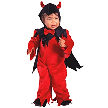Amazon.com: Child's Toddler Fuzzy Devil Halloween Costume (2-4T): Baby