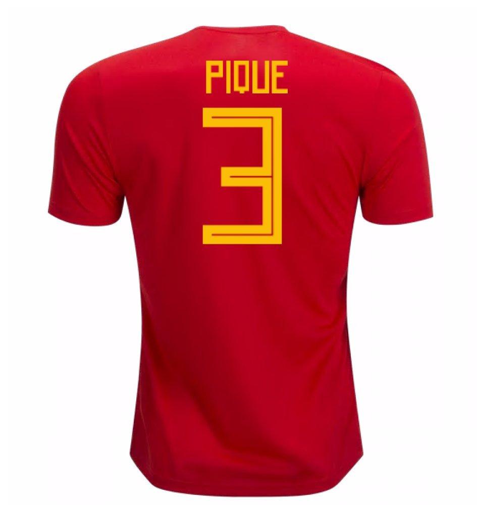 2018-19 Spain Home Football Soccer T-Shirt Trikot (Gerard Pique 3)