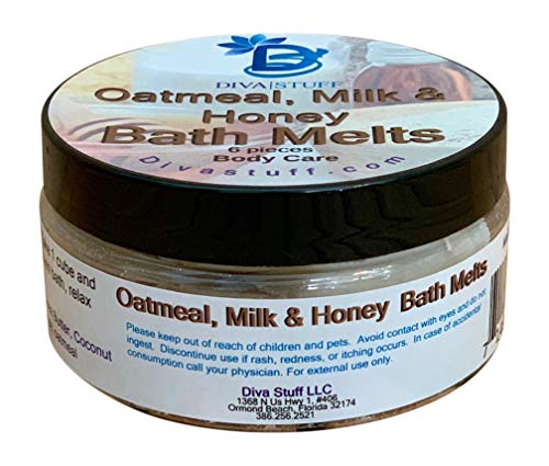 Oatmeal, Milk and Honey Skin Softening Slow Melt Bath Melts With Cocoa Butter and Shea Butter, Diva Stuff