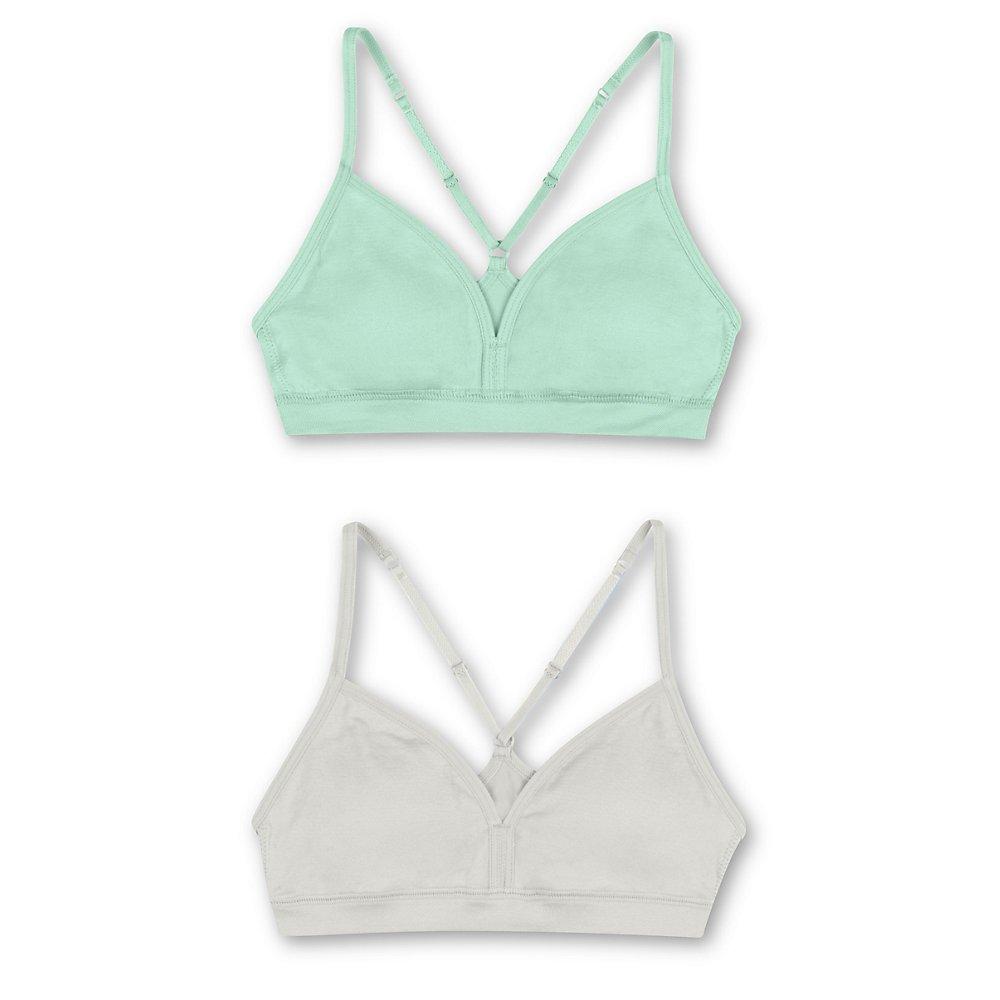Hanes Girls' Pullover Bra with Adjustable Racerback Straps 2-Pack