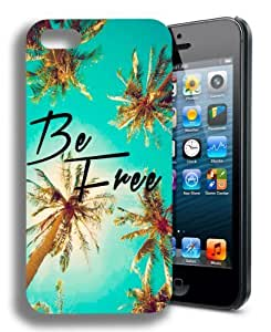 be free palm trees Cute Inspirational Quote Iphone 4 Case