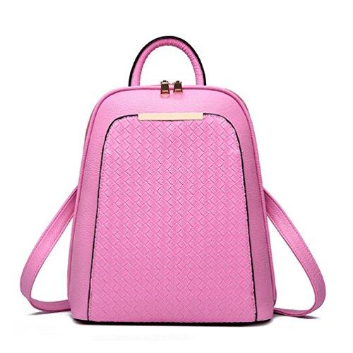 XibeiTrade - Bolso mochila  de Material Sintético para mujer rosa
