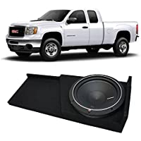 2007-2013 GMC Sierra Extended Cab Truck Rockford Punch P1S212 Single 12 Sub Box Enclosure - Final 2 Ohm