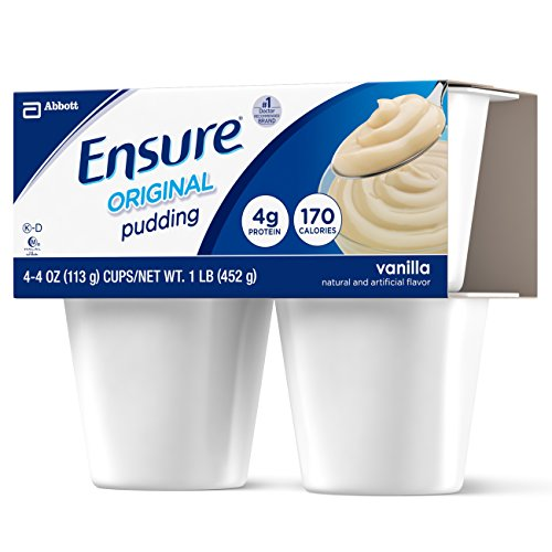 Ensure Pudding, Vanilla, 4-Ounce Cups in 4-Count Packages (Pack of 12 Cups) by Ensure (Image #1)