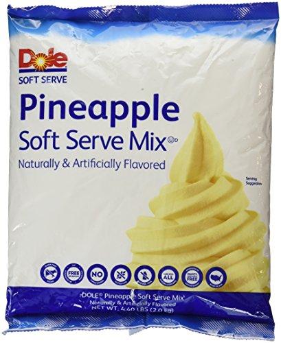 Dole Soft Serve Mix, Pineapple, 4.40 (Pineapple Ice Cream)