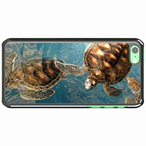 iPhone 5C Black Hardshell Case many sea underwater turtle Desin Images Protector Back Cover