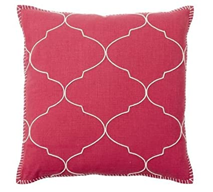 Pottery Barn Home Pillow.Amazon Com Pottery Barn Pillow Cover Red Moroccan Tile