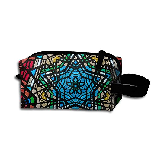 Makeup Cosmetic Bag Kaleidoscope Backgroud Zip Travel Portable Storage Pouch For Mens Womens -