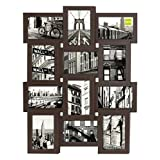 nexxt Array Collage Wall Frame, Holds 12- 4 Inch by 6 Inch Photos, Espresso