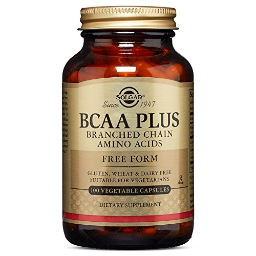 Solgar BCAA Plus Branched Chain Amino Acids Vegetable Capsules, 100 Count