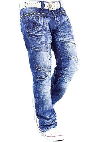 Kosmo Lupo - Vaquero - recto - para hombre Azul