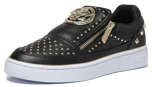 Zapatillas sin Cordones Guess Mujer - Poliéster (FL5BEELEA12BLACK) 37 EU