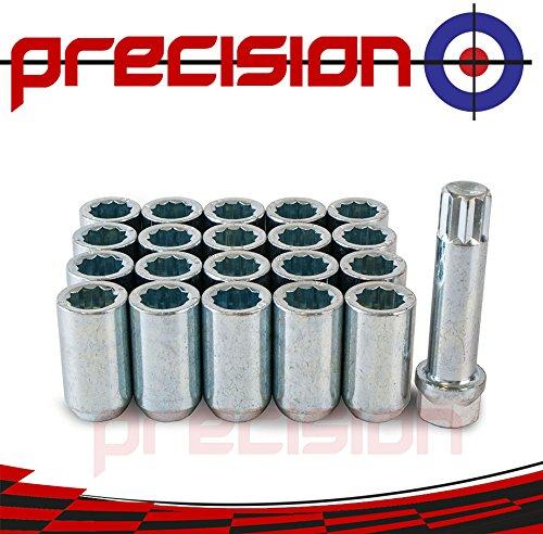 Precision 20 x Slim Fit Tuner Alloy Wheel Nuts for Ḟord Focus C-Max Part No 20NM10TK+SKEY537
