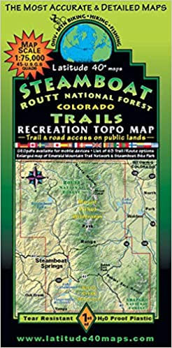 Steamboat - Routt National Forest Trails Recreation Topo Map ...