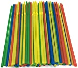 yellow drink dispenser - Skinny Drinking Straws - Multi Colored Flexible Cocktail Straws - 9.5
