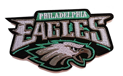 InspireMe Family Owned Eagles Football Embroidered Iron-on Patch 4.5