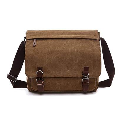 d051619a439c Men s Shoulder Messenger Bag Canvas Crossbody Bag Laptop Bag for 15 Inches