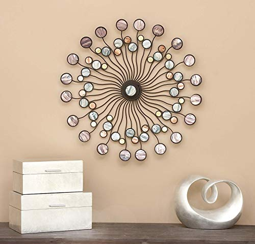 Deco 79 13533 Metal Wall Modern Iron Starburst Wall Decor 27quot