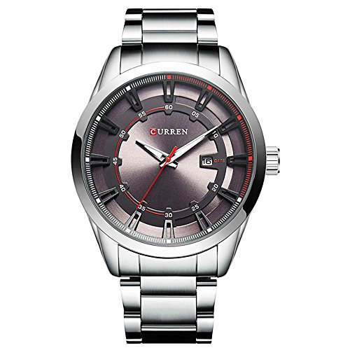 CURREN Original Men's Sports Waterproof Stainless steel Date Wrist Watch Good Quality 8246 Silver Gray