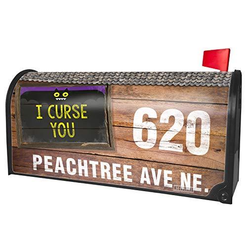 NEONBLOND Custom Mailbox Cover I Curse You Halloween Funny Bat -