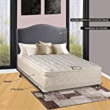 Continental Sleep 10 Pillowtop Fully Assembled Othopedic Queen Mattress & 4 Box Spring,Deluxe Collection