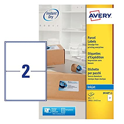 amazon com avery j8168 100 parcel labels for inkjet printers