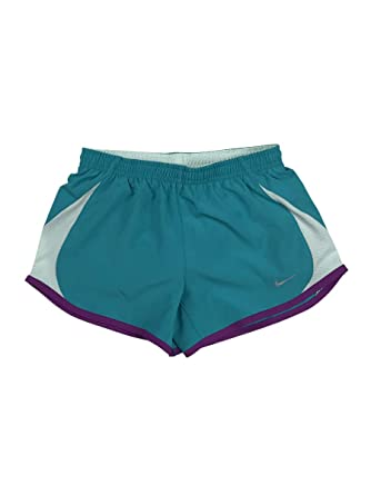 3dbe39dd1583 Nike Girls Dri-Fit Stay Cool Tempo Running Shorts w Brief Liner Green (