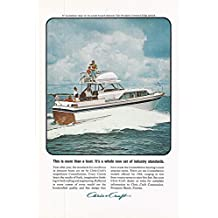 1964 Vintage Magazine Advertisement Chris Craft, This is more than a boat. It's a whole new set of industry standards.